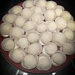 recette Bouchées noix de coco coeur noisette