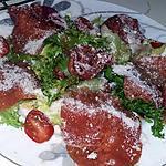 recette Salade de carpaccio