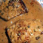 recette Pavé de cerf sauce poivre vert