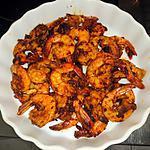 recette Apéritif: crevettes au paprika