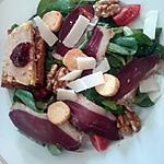 recette Salade composée de magrets et foie gras