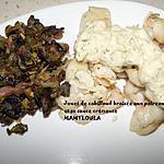 recette Joues de cabillaud braisées aux poireaux/champignons et sauce crémeuse