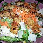 recette Salade parmesan et veau pané.