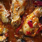 recette Poulet épicé tomate, poivrons et pesto au thermomix