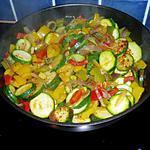 recette poelée de poivrons et courgettes