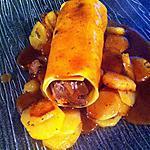 recette Cannellonis de cuisses de canard braisées au vin de Bergerac et pommes sarladaises
