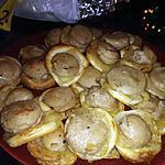 recette Feuilletés de boudin blanc a la truffe sur chutney de poire