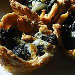 recette Tartelettes apéritives aux épinards