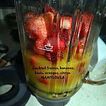 recette Cocktail fraises/banane/kiwis/oranges/citron
