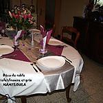 recette Déco de table pour les fêtes Violet/mauve et Gris