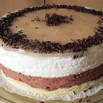 recette BAVAROIS POIRE/CHOCOLAT SUR DACQUOISE