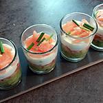 recette Verrines saumon