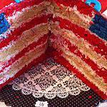 """recette Gâteau """"capitain America"""" drapeau US"""
