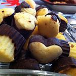 recette Bouchées chocolat blanc, chocolat noir