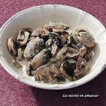 recette Champignons à la crème et au persil
