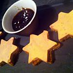 recette Etoiles de pain d'épice au foie gras et confiture de figues