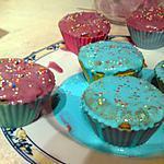 recette Cupcakes noisettes/chocolat blanc glaçage chocolat blanc