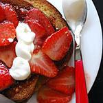 recette Pain brioché perdu dans les fraises