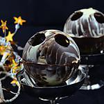 recette COQUES EN CHOCOLAT, MOUSSE DE MARRONS et DES DE MANGUE