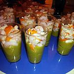 recette Verrines avocat crevettes surimis