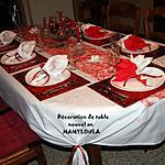 recette Déco de table thème rouge et blanc