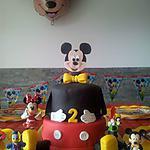 recette Notre gâteau d'anniversaire Mickey pour les 2 ans de notre fils