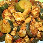 recette POULET AUX COURGETTES FACON TAGINE