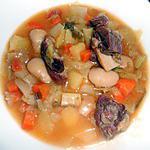 "recette SOUPE A LA CORSE AU ""PRISUTTU"" (jambon sec)"
