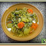 recette Soupe, brocoli - carotte - poireau, non mixée