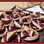 recette Tartelettes au foie gras et aux pignons