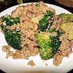 recette Broccoli  avec bourgoul et parmesan