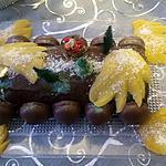 recette Bûche de fête à la compotée de mangue au rhum