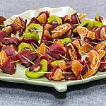 recette Kiwis et clémentines au magret de canard séché
