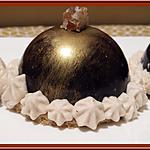 recette Dômes en chocolat à la mousse de marron