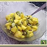 recette Salade de fruits ananas, kiwi et gingembre