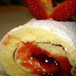 recette Gâteau roulé à la confiture de fraises