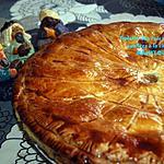 recette Galette des rois aux pommes confites à la cassonade