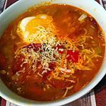 recette Soupe de lentilles corail à l'espagnol