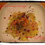 recette Carpaccio de St. Jacques à l'Huile Vanillée
