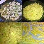 recette POULET CURRY OLIVES POIVRON