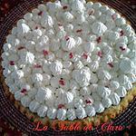 recette Tarte génoise compotée de cerises et chantilly