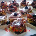 recette Tapas aux poivrons et jambon ibérique