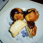 recette PETITS CHOUX GLACES A LA CHANTILLY VANILLEE