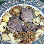 recette Tadjine d'agneau au petits pois et coeurs d'artichaux