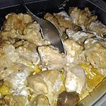 recette Rouelle de porc a la crème et au saté