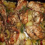 recette Lapin au four pommes de terre au lard