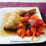 recette Poulet aux carottes et tomates