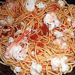 recette Spaghetti au homard