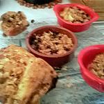 recette crumble pommes  raisins de   josette baysse