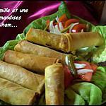 recette Cigares poulet légumes cheddar
